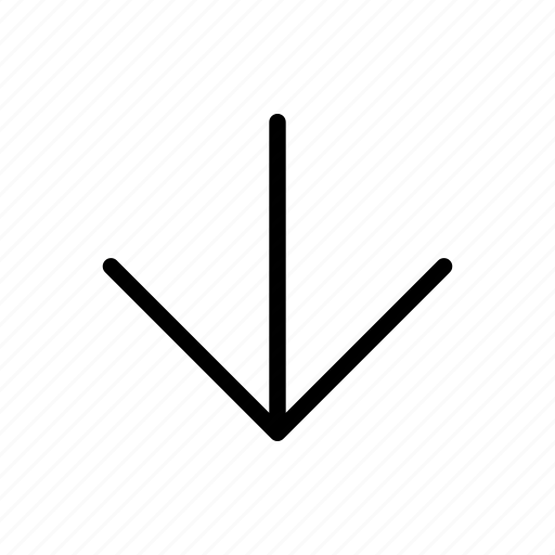 arrow, back, down, side icon