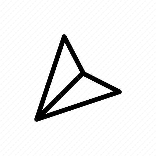 arrow, down, left, mail icon
