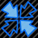 resize, arrow, screen, minimize icon