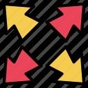 arrow, exchange, expand, maximize, resize, transfer