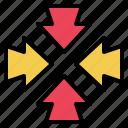 arrow, minimize, resize, scale, screen, square icon
