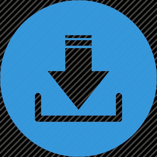 arrow, disk, down, download, storage, upload icon