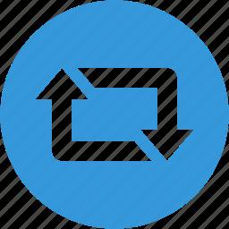 arrow, arrows, direction, recycle icon