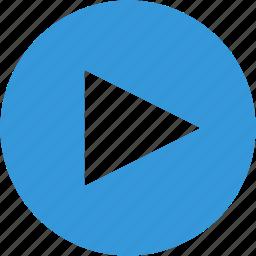 arrow, next, play, video icon
