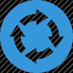 arrow, arrows, recycle, refresh, reload icon