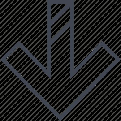 arrow, double, lines icon