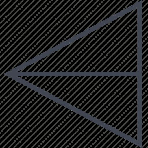 exit, left, pointer, sending icon