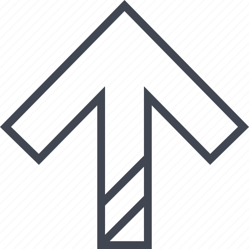 double, lines, up icon
