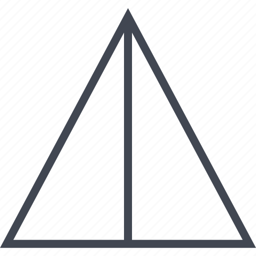 point, pointer, pyramid, up icon