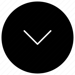 arrow, direction, down, down arrow icon
