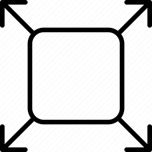 activity, arrows, enlarge, expand, motion, process, square icon