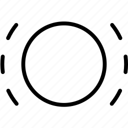 circle, lines, motion, outer, selected, vibration icon