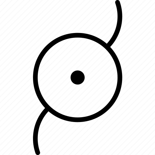 center, circle, disc, motion, shield, turning icon