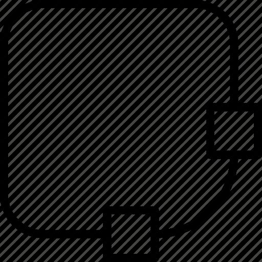 corner, design, editing, radius, square, style icon