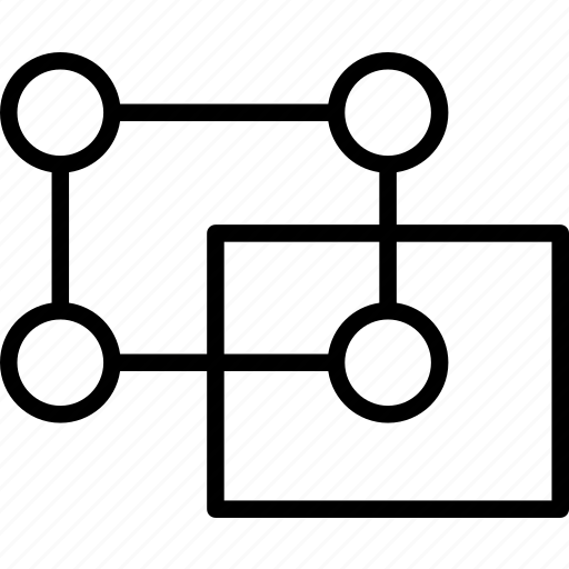 boundaries, copy, corcners, element, move, squares, vectors icon