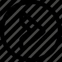 arrow, button, circle, right