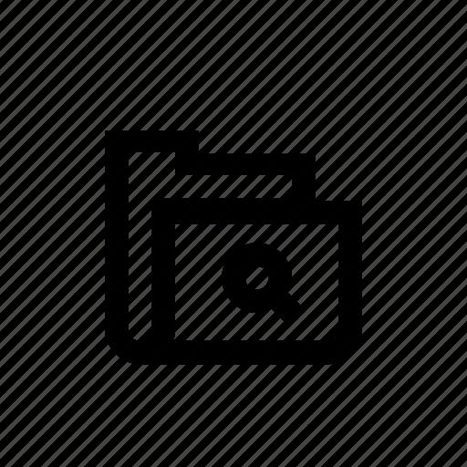 document, file, folder, search icon