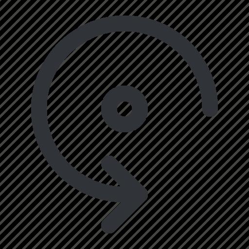 arrow, counterclockwise, rotate icon