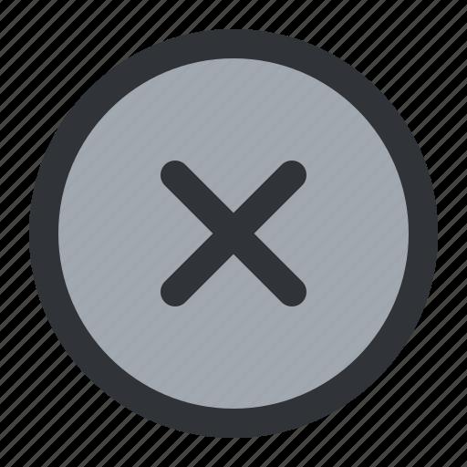 circle, close, remove icon