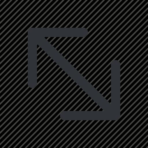 arrows, enlarge, maximize icon