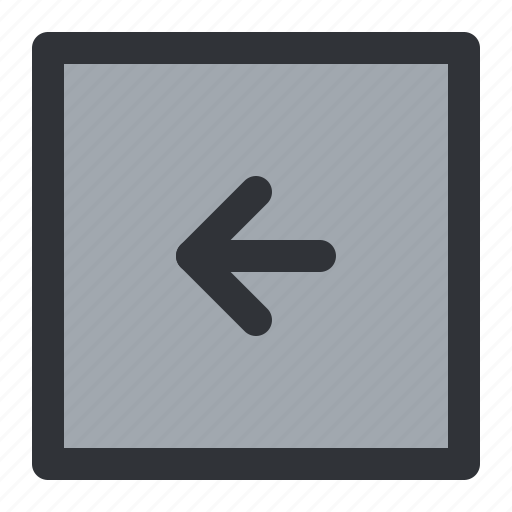 arrow, back, left, previous, square icon