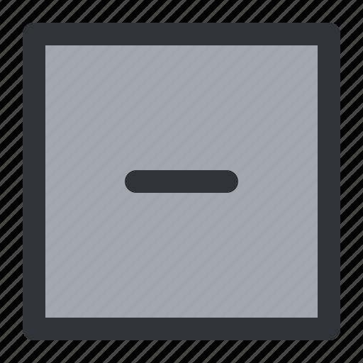 minus, remove, square icon
