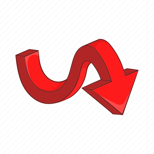 arrow, cartoon, curve, direction, next, sign, swirl icon