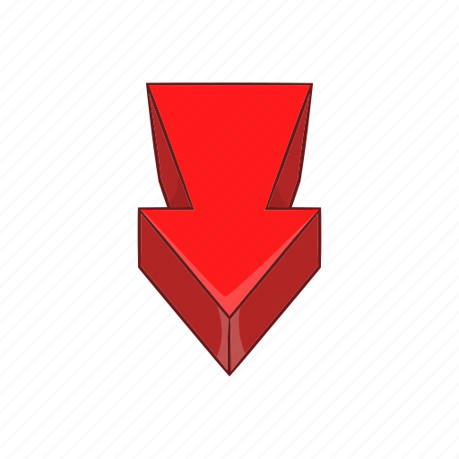 arrow, cartoon, direction, next, red, sign, swirl icon