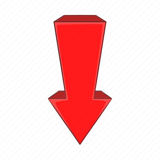 arrow, cartoon, direction, down, shape, sign, swirl icon