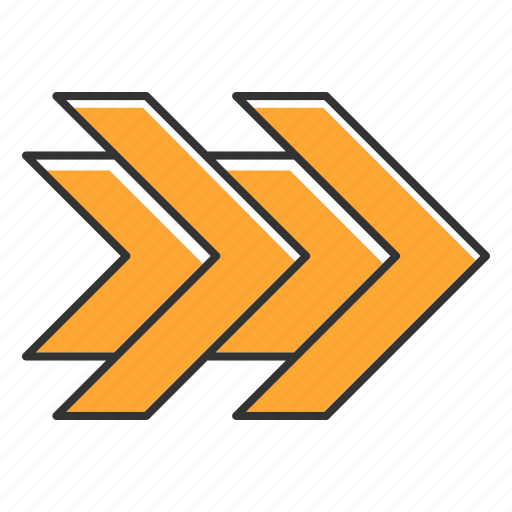 Arrow, double, fast, forward, rewinding, right, rightward icon - Download on Iconfinder