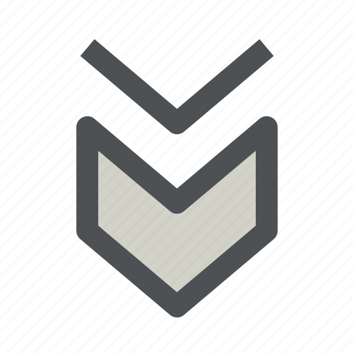 arrow, chevron, direction, down icon