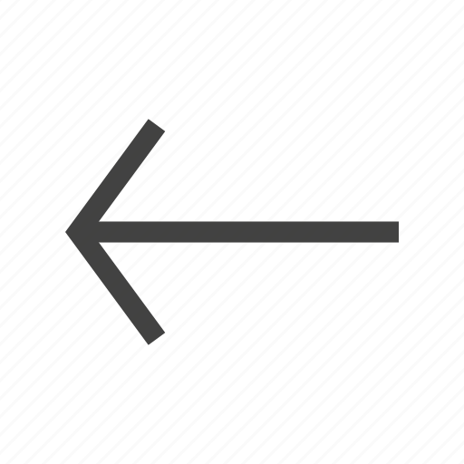 arrow, direction, indication, internet, left, navigation, sign icon