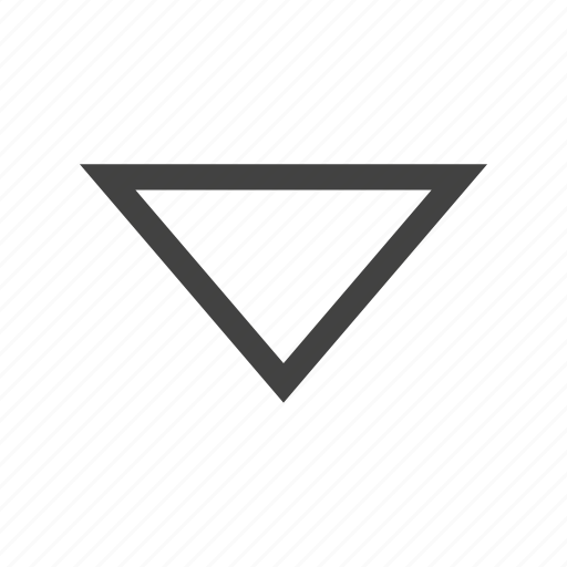 down, download, move, sign, triangle, website icon