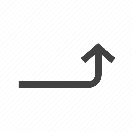 arrow, direction, graph, growth, sign, turn, up icon