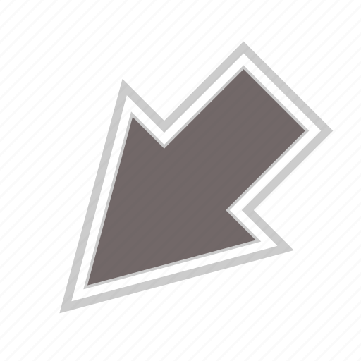 arrow, arrows, diagonal, direction, down, left, move icon
