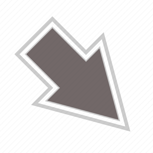 arrow, arrows, diagonal, direction, down, move, right icon