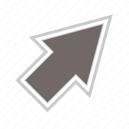 arrow, arrows, diagonal, direction, right, up icon