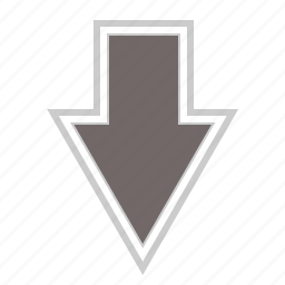 arrow, arrows, direction, down, download icon