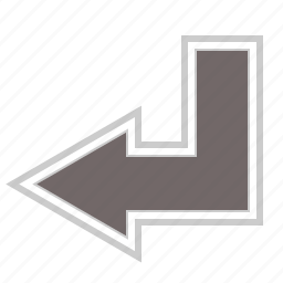 arrow, arrows, direction, down, left icon