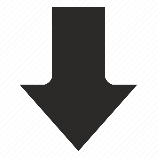 arrow, bottom, down, go icon
