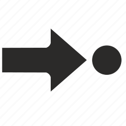 arrow, go, point, target, to icon