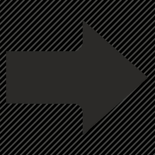 arrow, go, next, right icon