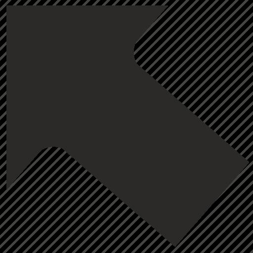 arrow, go, left, top icon