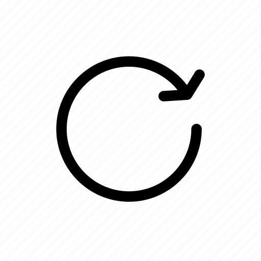 arrow, circle, clockwise, rotate icon