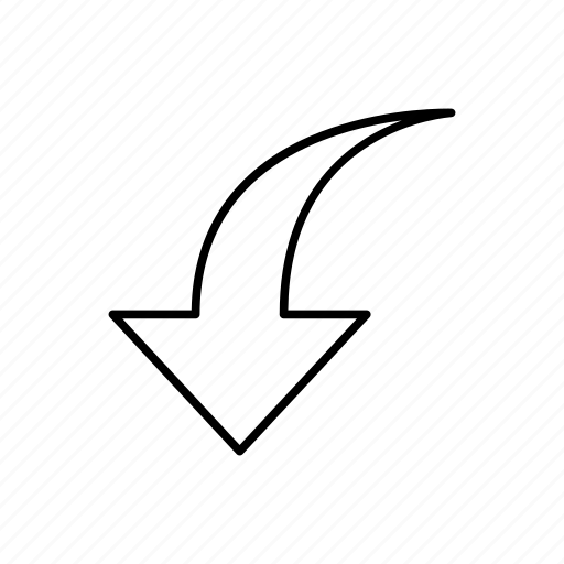 arrow, direction, down, left, move, navigation icon