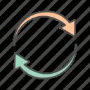 arrow, arrows, circle