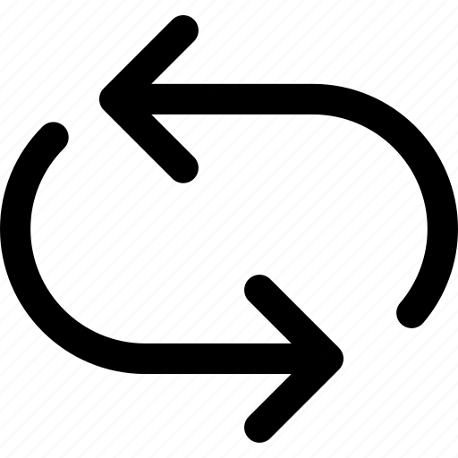 arrow, direction, orientation, repeat icon