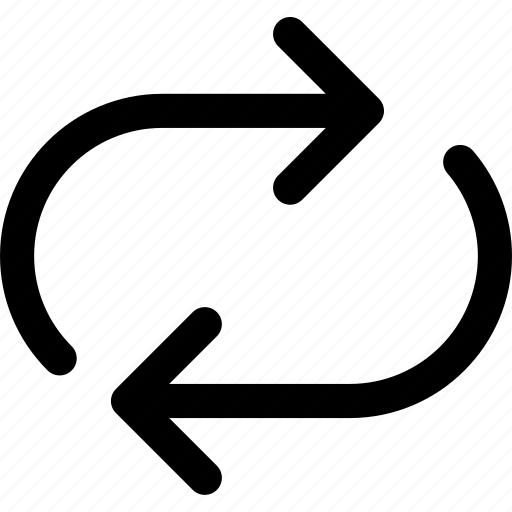 arrow, direction, orientation, syncronize icon