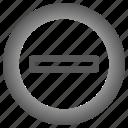 arrow, circle, delete, minus, remove icon