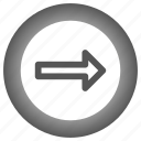 arrow, circle, move, next, right icon